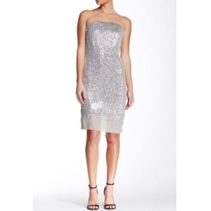 Trina Turk Belmont Strapless Sequin Dress